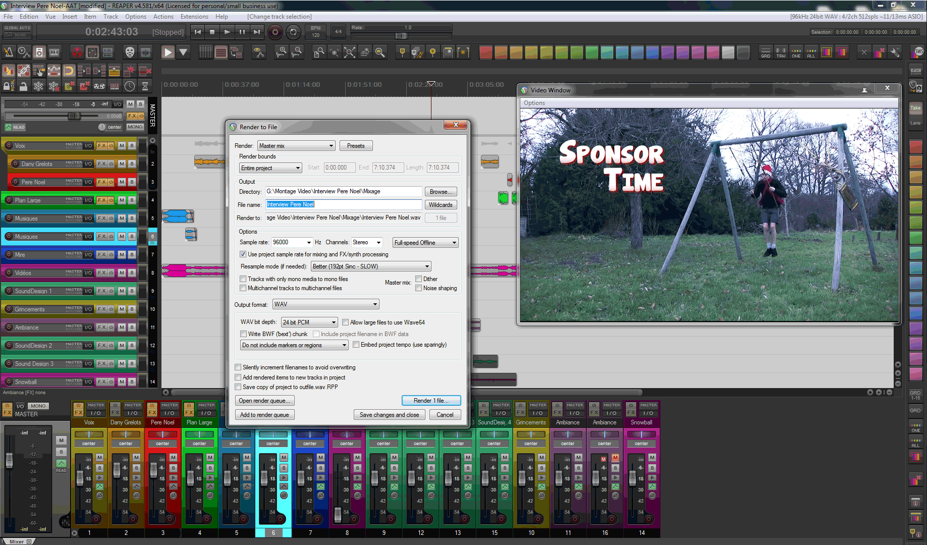 From Premiere Pro to Reaper (AATranslator) – Audio Post-Production