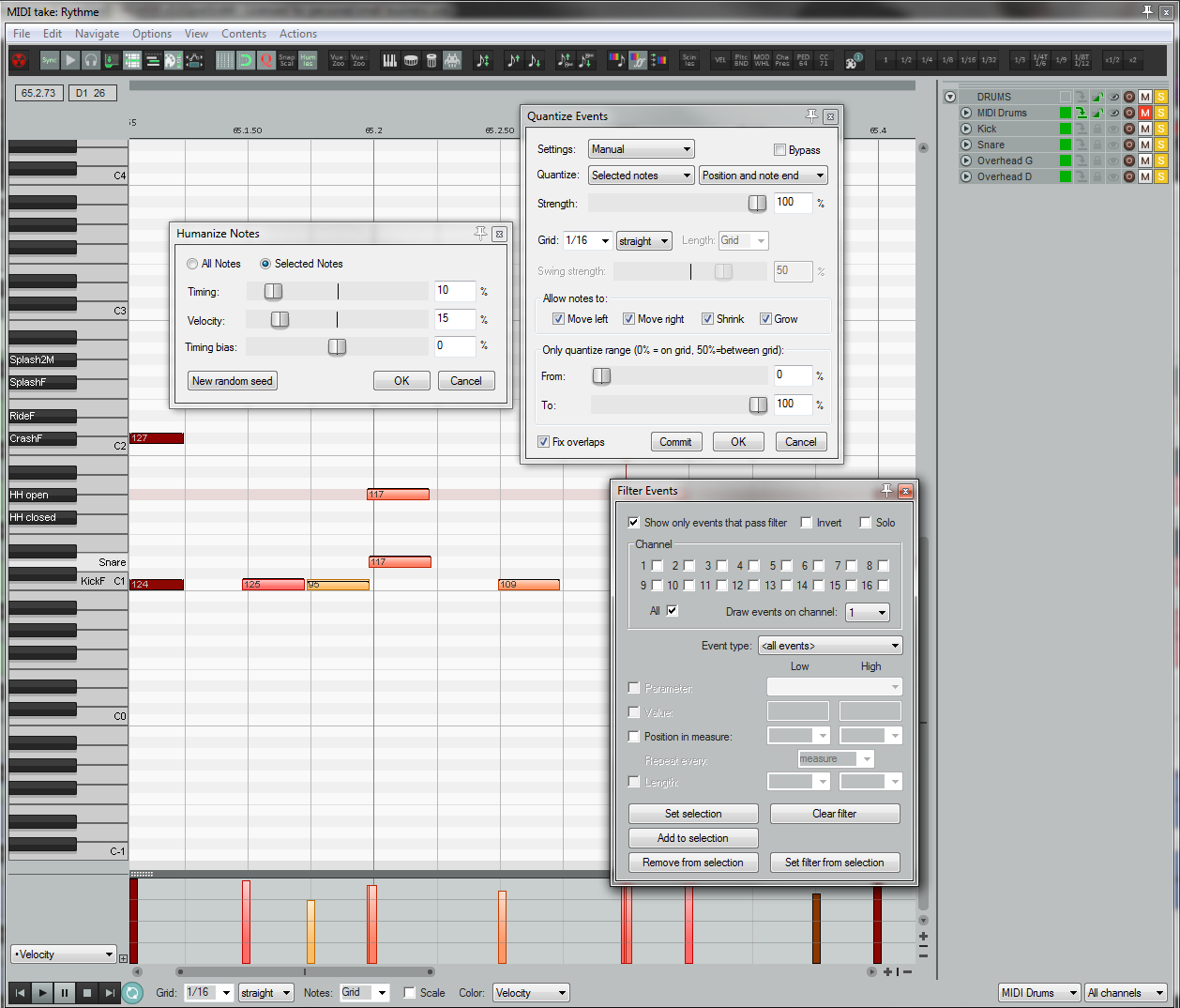 An overview of REAPER MIDI editor.