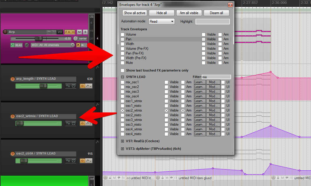 Envelope parameter filter in action ! (Theme X-Raym Analog)