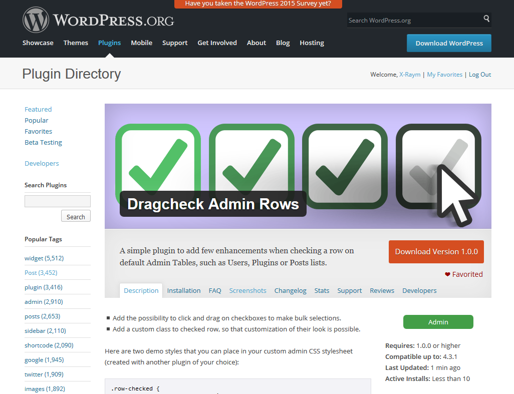 dragcheck plugin page
