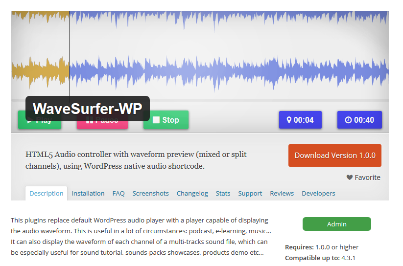 WaveSurfer-WP — My New Audio Controller with Multiple Channels