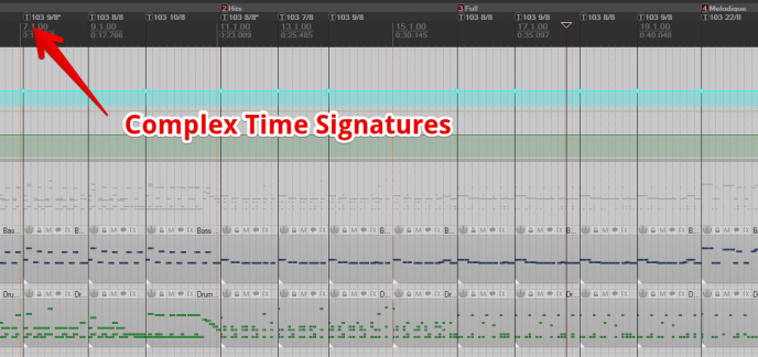 Quelques signatures rythmique assez inhabituelles...