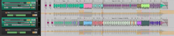 La Panoramisation de la guitare varie du centre à l'extrême durant le morceau.