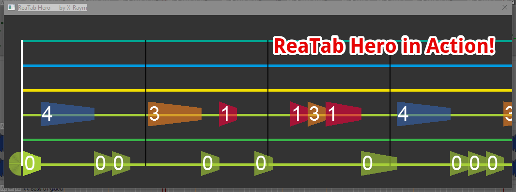 ReaTab Hero: Side-Scrolling Tab Viewer Script for MIDI Items in